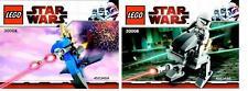2x LEGO Star Wars The Clone Wars Klon mit AT-RT + Droide mit Stap 30006 30004