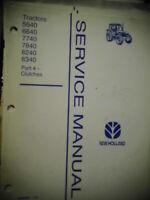 1996 New Holland 5640 6640 7740 7840 8240 8340 Tractors Clutches Service Manual