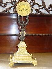 Grosse Original Bronze Empire Uhr um 1820 ,Feuervergoldet mit Bronze Figur