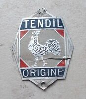 Ancienne Plaque Vélo TENDIL France Head Badge Cycles Bicyclette headbadge #2