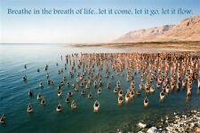DEAD SEA BATHERS inspirational poster YOGA quote historic 24X36 NEW RARE