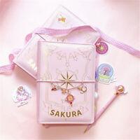 Anime Card Captor Sakura Handbook Pink A6 Notebook Complete Set Tool Materials