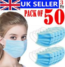 CE Proof Cotton Face Mask Washable double-layer cover mouth nose Reusable 50PCS