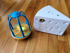 Battery Operated Mouse in Cheese & Bird in Cage Cat Toy Set !
