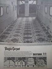 9/1968 PUB SHORT SKYVAN PASSENGER FREIGHT FRET CARPET TAPIS ORIGINAL AD
