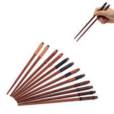 6 Handmade Japanese Natural Chestnut Wood Chopsticks Set Value Gift High Quality