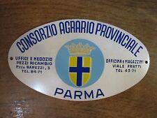 TARGA -PIASTRA PUBBLICITARIA -CONSORZIO AGRARIO PROVINCIALE DI PARMA -ANNI '40