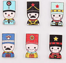 Soldiers Wooden Craft Embellishments x 10 Crafts, Card Making, Scrapbooking