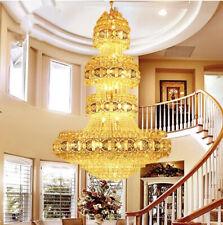 TOP living room duplex LED crystal chandelier European villa hotel lobby light