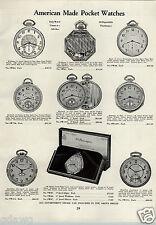 1933 PAPER AD Illinois Pocket Watch Railroad Springfield Howard Hamilton Cleve