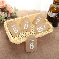 Rustic 1-10 Burlap Table Numbers Table Centerpiece for Wedding or Home