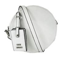 Steve Madden NWT $58 Teenie Mini Canteen White Faux Leather Crossbody Shoulder