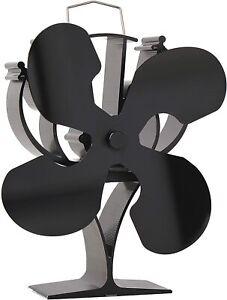 New Designed 4 Blades Heat Powered Stove Fan for Wood/Log Burner/Fireplace - ...