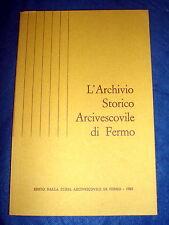 L' Archivio storico arcivescovile di Fermo