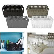 Handy Storage Basket Plastic Crate School Office Kitchen Pharmacy Tidy Organiser