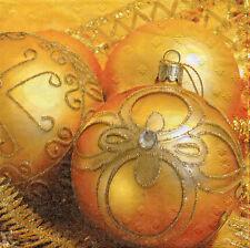 4 Motivservietten Servietten Napkins Tovaglioli Weihnachtskugeln (955)