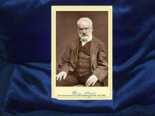 VICTOR HUGO French Poet Novelist Cabinet Card Photograph Vintage RP Autograph