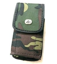 iPhone SE 5S 5C - Camo Army Green Vertical Belt Clip Pouch Holster Velcro Case