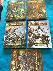 Pathfinder Roleplaying Game 4 HB Books & Character Folio