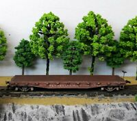 HO Scale Custom Painted Weathered Train Pennsylvania Flat Car