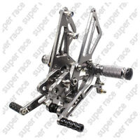 Adjustable CNC Rearsets Footpegs Footrest For Kawasaki ZX14R ZZR1400 06-11 Gray