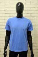 Maglia TOMMY HILFIGER Taglia Size M Maglietta Shirt Man Cotone Manica Corta Blu