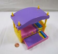 Dora the Explorer MAGICAL CASTLE TRUNDLE BED Dollhouse Sized 5 Inches Long Rare!