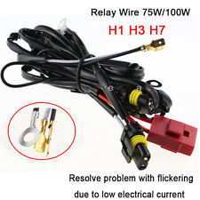 AC 75W 100W HID Conversion Kit Single Beam 40A Relay Wiring Wire Harness H1 H7