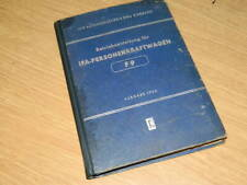 IFA F9 Personenkraftwagen original Betriebsanleitung 1954 gebunden