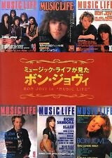 Bon Jovi in Music Life Japan Magazine Photo Book Chronicle David Bryan Alec Joh