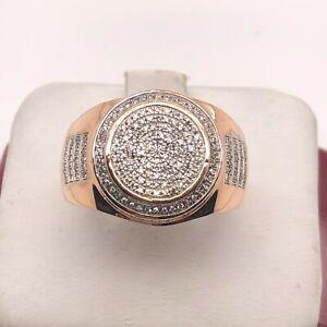10k Rose Gold And Diamond 3D Men Ring
