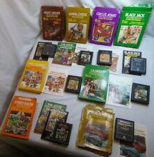 Lot of 8 Atari 2600 paddle control games with boxes Night driver Warlords Circus