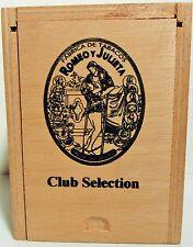 """Solid Wood Empty Cigar Box - Romeo y Julieta """"Club Selection"""" Rothchilde - NICE!"""