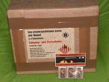 DDR VEB Riesa STURMSTREICHHÖLZER 200 Beutel a 3Schachteln = 1 original Karton !!