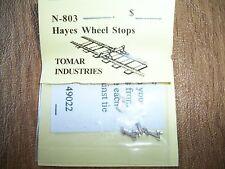 Tomar N Scale Hayes Wheel Stops 4 pack Cast metal #N-803 Bob The Train Guy