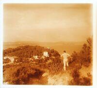 Francia Costa Azure c1930 Foto Placca Da Lente Stereo Vintage VR16L