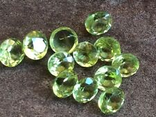 5 PC ROUND CUT SHAPE NATURAL PERIDOT 3MM FACETED LOOSE GEMSTONES