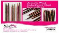 KnitPro Symfonie Wood 10cm DPN / Double Point Sock Knitting Needle Set