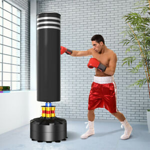Heavy Duty Boxing Punch Bag Free Standing Kick Art Training Indoor Sports Black