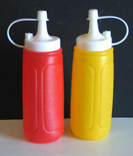 Pair Plastic Ketchup and Mustard Condiment Squeeze Dispensers FREE SH