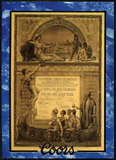 1893 World's Fair Certificate #10 Coors Beer Trade Card (C389)