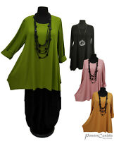 PoCo LAGENLOOK Basic Long Shirt Tunika 42 44 46 48 50 52 54 56 58  L-XL-XXL-XXXL