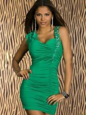 Sexy Summer Party Cocktail Evening Dress Club Wear Mini Dress Sequin Bodycon