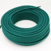 Textilkabel, Leitung Faser umflochten, rund, Abaca Petrol, 3x0,75 H03VV