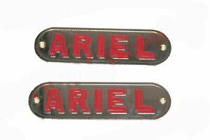 Brass Chrome Plated Petrol Tank Monogram Badge Motif Ariel Motorcycle ECs