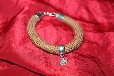 fantaisie bracelet/armband corde brune breloque éléphant