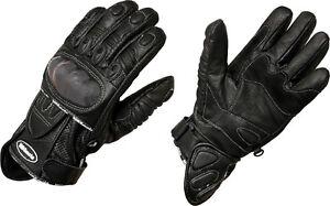 MBSmoto MBG31 Motorcycle Motorbike Leather Gloves Black