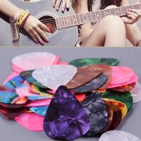 50pcs Acoustic Electric Guitar Celluloid Picks Plectrum Thin 0.46mm Mixed Color