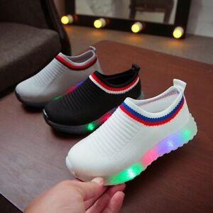 Led Children Baby Boys Girls Light Up Sneakers Luminous Shoes Trainers Kid Gifts