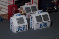 2 HO SCALE Bag ICE Chest Box Machine Single and Double Door Blue